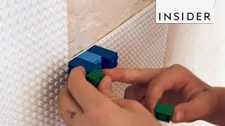 These Tiles Let You Cover the Wall with LEGO Art