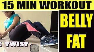 15 Minutes Workout To Get Flat Stomach // Lose Weight  and Belly Fat with Mukti Gautam