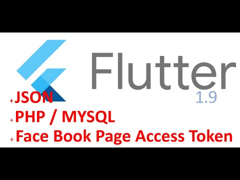 Flutter App From Facebook Page Posts (Page Access Token) PHP MYSQL, Use Flutter With JSON PHP MYSQL