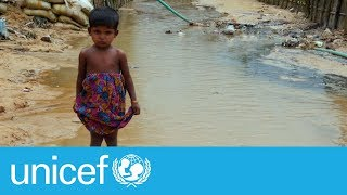 Rohingya refugee children at risk of disease | UNICEF