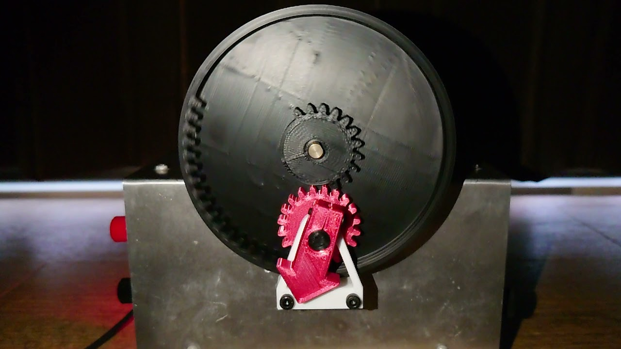 欠歯車を用いた回転方向が変わる歯車機構 (Mechanism using a tooth-missing gear to change the direction of rotation)