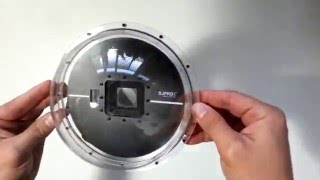 How to connect an extreme camera gopro to a dome port SJPRO DOME