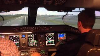 JetBlue E190 cockpit landing 31L JFK