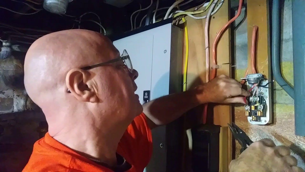 i show and and explain how to wire a 220 240 volt 30 amp outlet for a electric dryer [ 1280 x 720 Pixel ]