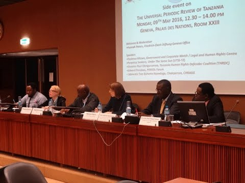 Side Event on the Universal Review of Tanzania 2016