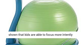 Gaiam Kids Balance Ball Chair - Classic Children's Stability Ball Chair,Child Classroom Desk Seating
