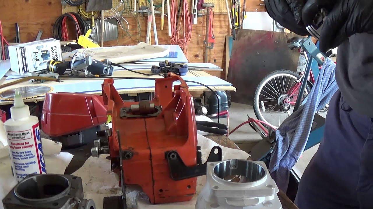Husqvarna 395XP Chainsaw Rebuild Part 6 - Cylinder Back On