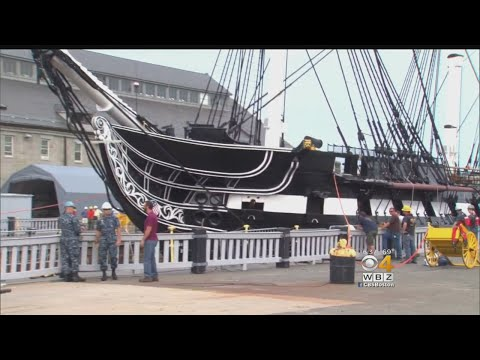 USS Constitution Hits The Water Again