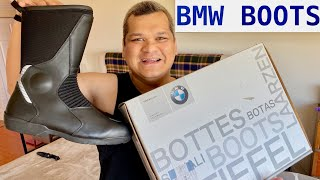 UNBOXING BMW ALLROUND MOTORCYCLE BOOTS | GORETEX WATERPROOF | NOT MADE IN CHINA