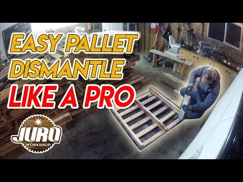 Disassemble a Pallet without Power Tools | Easy DIY Pallet Project| JURO Workshop