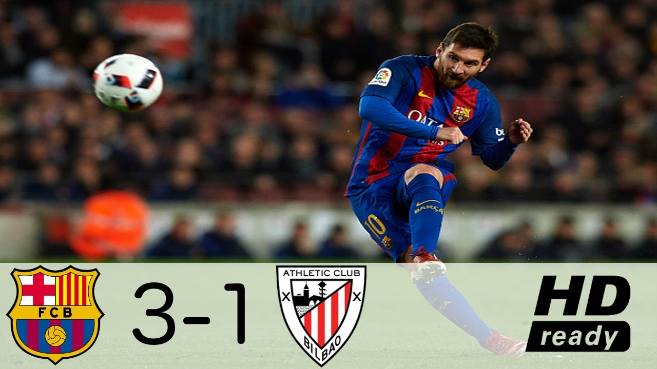 Barcelona Vs Athletic Bilbao 3-1 All Goals & Extended ...