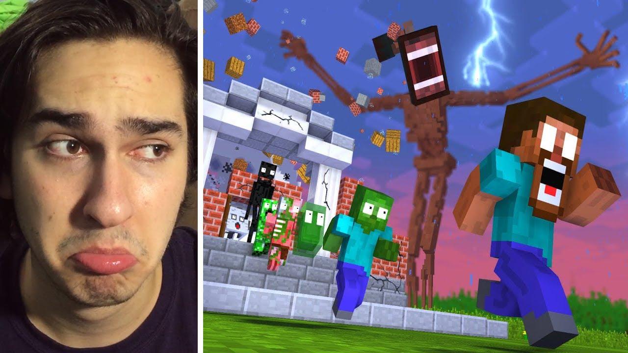 SİREN KAFA OKULU BASTI !! (Siren Head Minecraft)