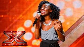 There's no keeping Sharon's singing a secret | Auditions Week 2 |  The X Factor UK 2015
