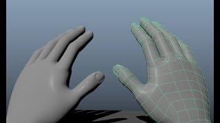 Как сделать кисть руки в MAYA