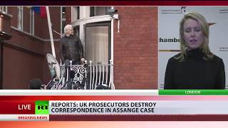 UK prosecutors reportedly destroyed crucial emails in Assange case