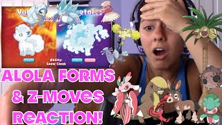 Alola Forms + Z moves Reaction!