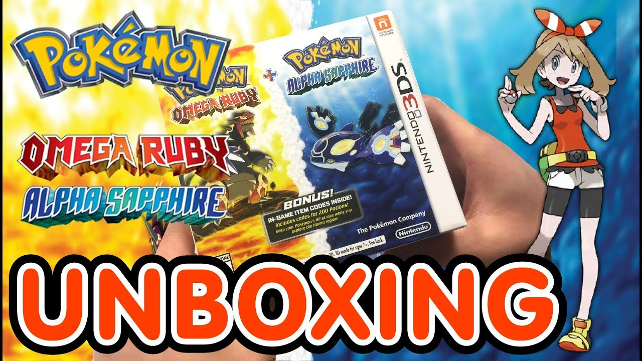 Pokemon Alpha Sapphire Omega Ruby Dual Pack 3ds