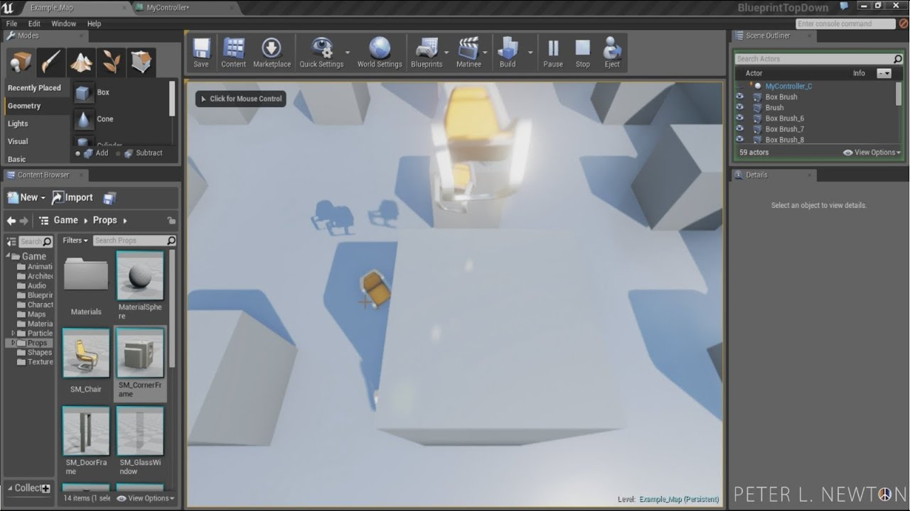 Blueprints - Shooting Projectiles At Mouse Location - Unreal Engine 4