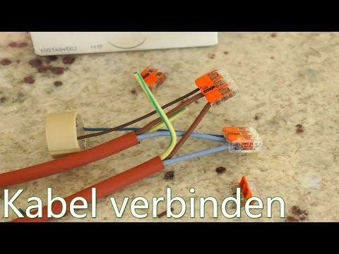 Gut gemocht Tutorial: Kabel verbinden - Wago Klemmen - in Verbindung mit GU10 SS44