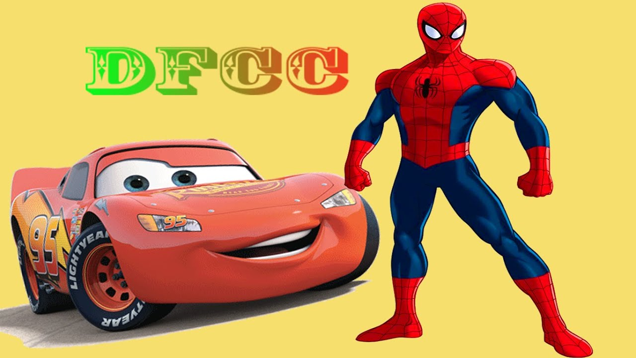 Disney coloring pages spiderman - Dfcc Spiderman Vs Disney Pixar Cars Coloring Pages Drawing Pictures For Kids