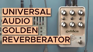 UAFX Golden Reverberator Sound Demo (no talking) with Roland SH-01a Synthesizer