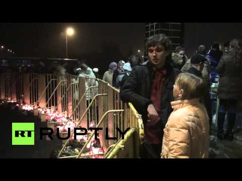 Latvia: Candles lit for victims of supermarket disaster