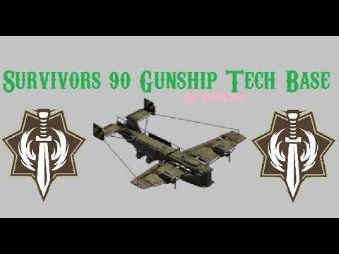 war-commander---survivors-(90)-gunship-tech-base.-updated-video.