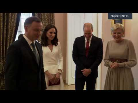 Wills and Kate with a visit to the President of the Republic of Poland.