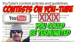 Contests And Giveaways - You Could Lose Your Channel Must watch