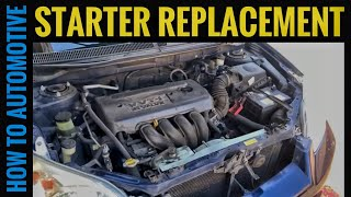How to Replace the Starter on a Toyota Matrix