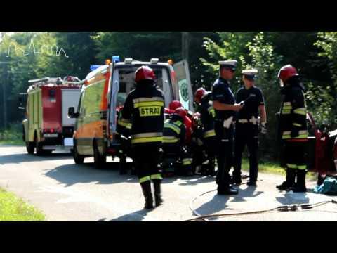 Wypadek koło Buczka (trasa Szczecinek - Żółtnica) www.iszczecinek.pl