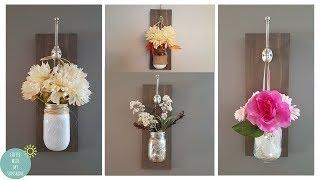 DIY HANGING MASON JAR / HOW TO MASON JAR TWINKLE LIGHT / FARMHOUSE RUSTIC Easy Budget Fall Ideas