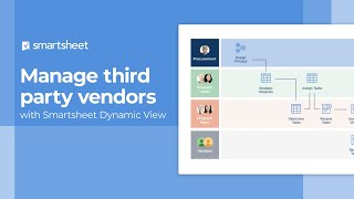 Manage third party vendors with Smartsheet Dynamic View