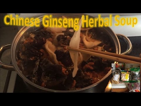Chinese Ginseng Herbal Soup