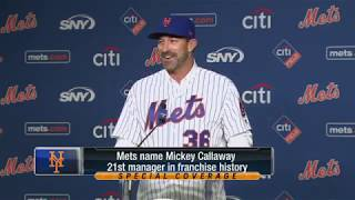 New Mets manager Mickey Callaway meets the media at Citi Field 2017 Video