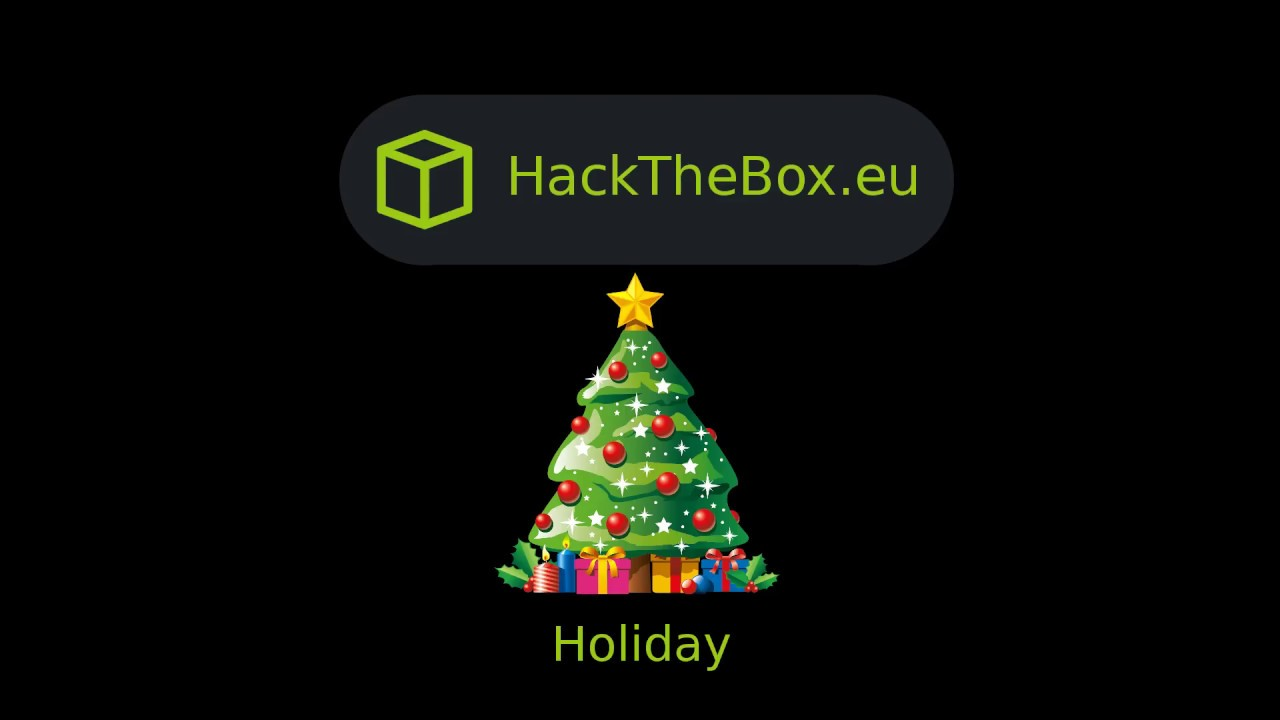 HackTheBox - Holiday