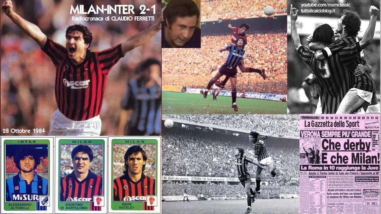 Milan Inter 2 1 28 10 1984 Radiocronaca Di Claudio