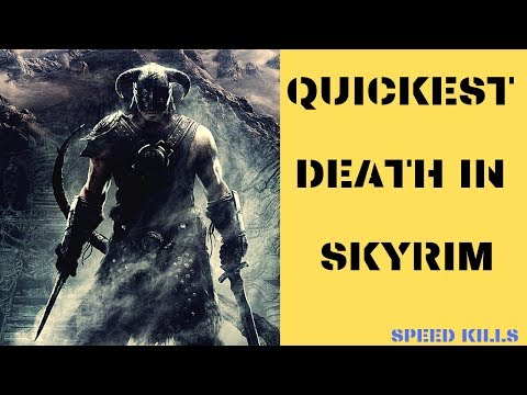 The Quickest Death in Skyrim - SPEED KILLS thumbnail