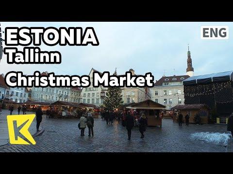 【K】Estonia Travel-Tallinn[에스토니아 여행-탈린]시청 광장의 크리스마스 마켓/Christmas Market/Square/Craft/Wine/Town Hall
