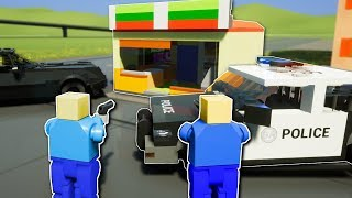 COPS CHASE CANDY ROBBER!? - Brick Rigs Multiplayer Gameplay - Lego Cops and Robbers Roleplay