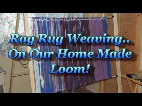 Rag Rug Weaving On A Simple Home Made Loom