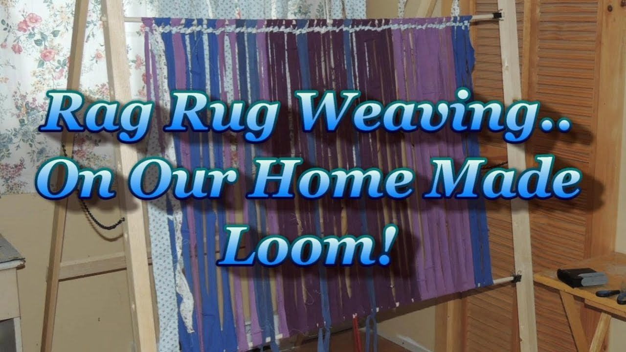 Nice Rag Rug Weaving On A Simple Home Made Loom   YouTube