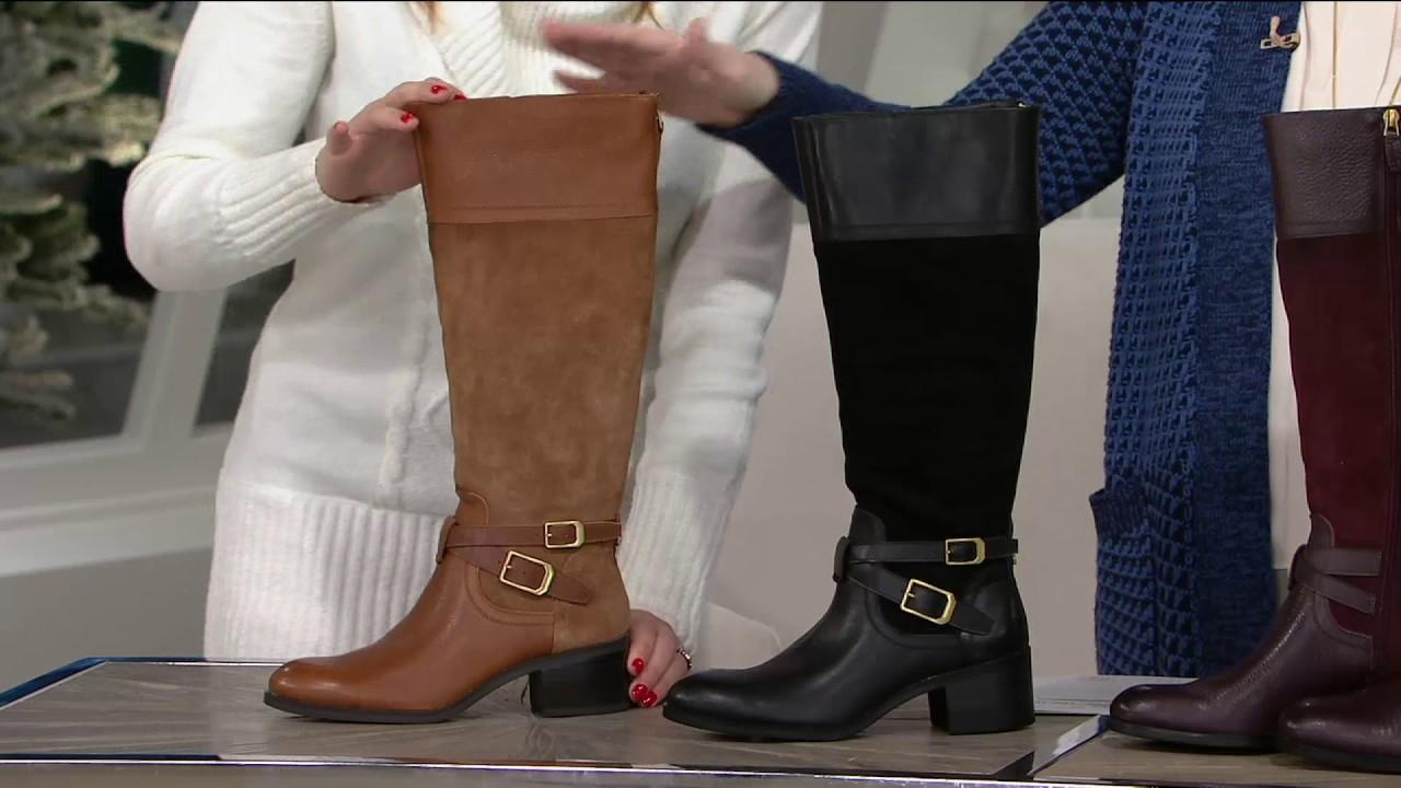 Franco Sarto Leather Tall Boots Choice