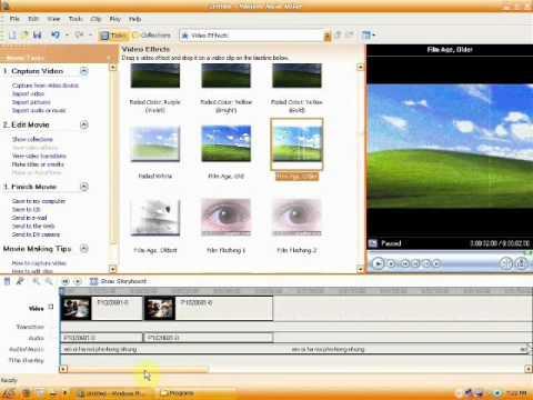 Hướng dẫn sử dụng window movie Maker (part1)