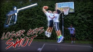 HE GOT DUNKED ON! King of the Court | Loser gets shot with PAINTBALLS