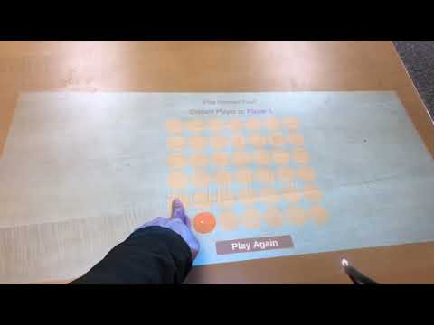 Turn Any Table into Touchscreen Demo - Tic tac toe