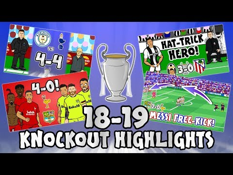 🏆UCL KNOCKOUT STAGE HIGHLIGHTS🏆 2018/2019 UEFA Champions League Best Games and Top Goals!