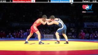 1ST PLACE: 61 KG Masoud Esmailpoor Jouybari (Iran) vs. Aleksandr Bogomoev (Russia)