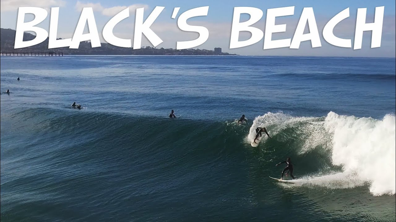 BLACK'S BEACH SURFING