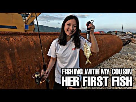 Fishing At Maribijoc Port - Fishing With My Cousin